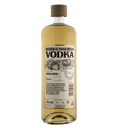 Koskenkorva Sauna Barrel Vodka 37,5% 1 liter